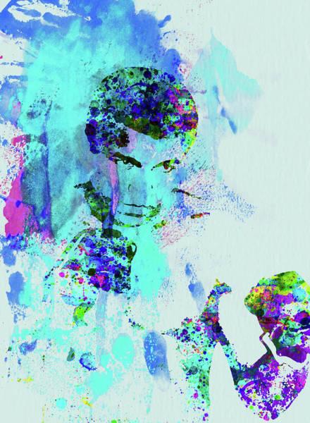 Wall Art - Mixed Media - Legendary Muhammad Ali Watercolor by Naxart Studio