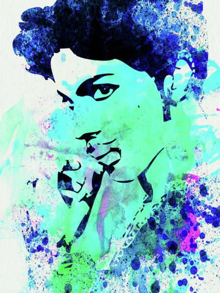 Jazz Mixed Media - Legendary Prince Watercolor by Naxart Studio