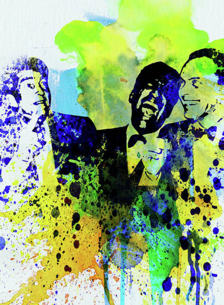Wall Art - Mixed Media - Legendary Rat Pack Watercolor by Naxart Studio