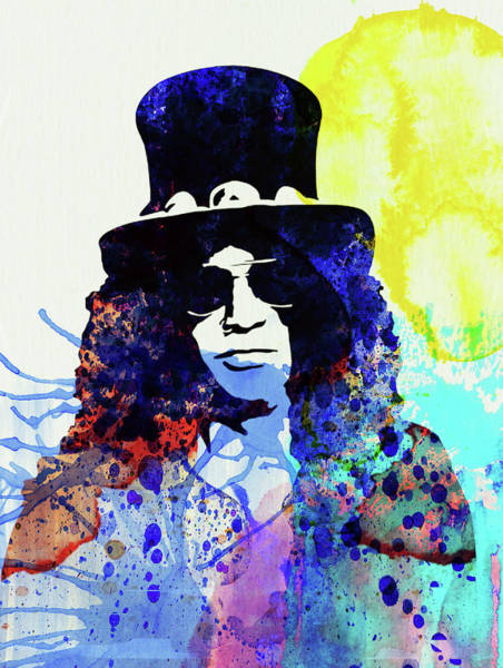 Wall Art - Mixed Media - Legendary Slash Watercolor I by Naxart Studio