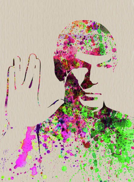 Wall Art - Mixed Media - Legendary Spock Watercolor by Naxart Studio