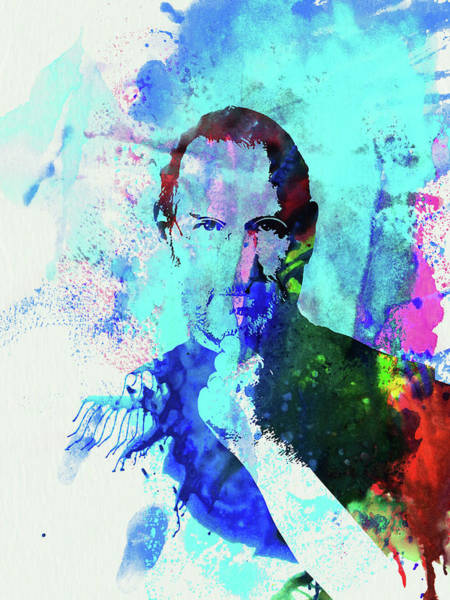Food And Beverage Mixed Media - Legendary Steve Jobs Watercolor by Naxart Studio