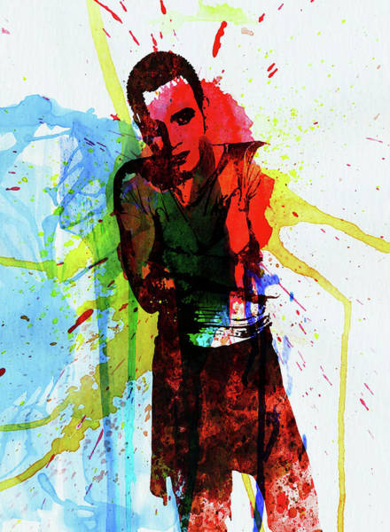 Wall Art - Mixed Media - Legendary Trainspotting Watercolor II by Naxart Studio