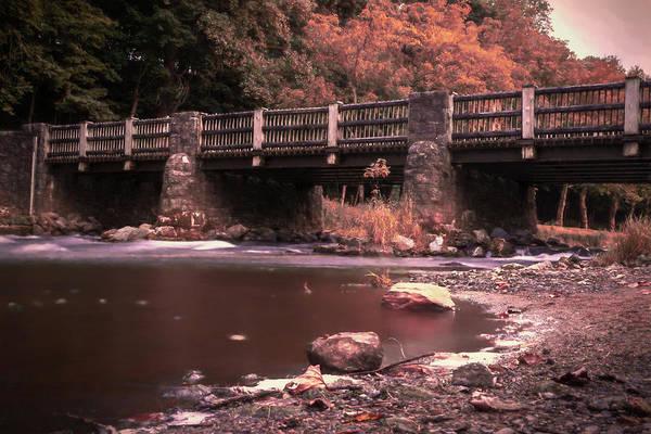Photograph - Lehigh Parkway Robin Hood Bridge - Impressionism by Jason Fink