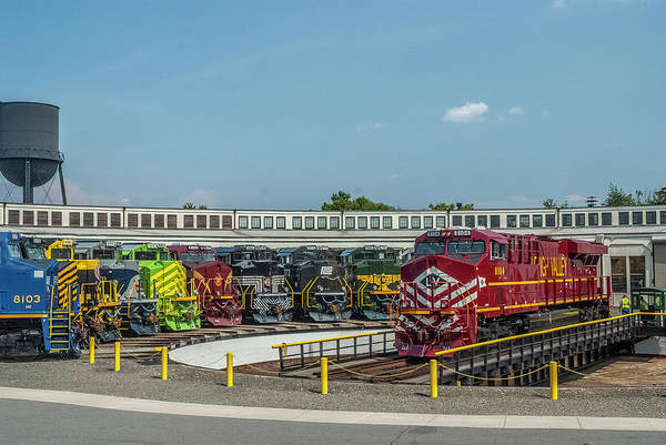 Photograph - Lehigh Valley Railroad On The Turntable by Matthew Irvin