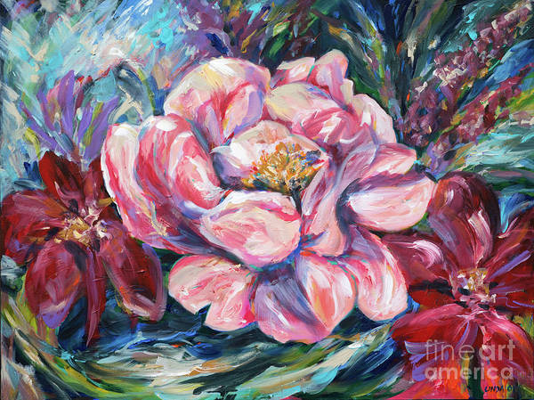 Painting - Leigh Anne Floral by Linda Olsen