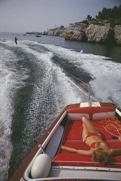 Length Photograph - Leisure In Antibes by Slim Aarons