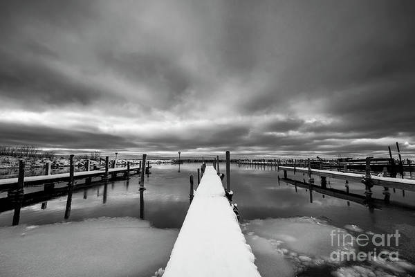 Wall Art - Photograph - Leland Harbor Black And White by Twenty Two North Photography