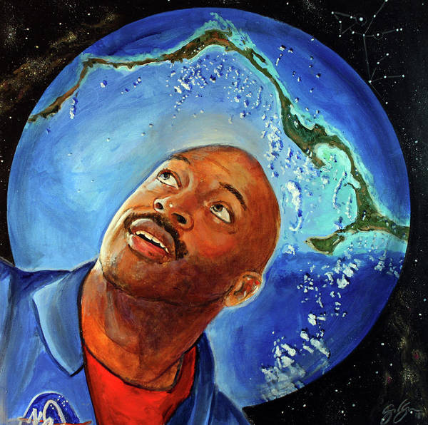 Wall Art - Painting - Leland Melvin by Simon Kregar