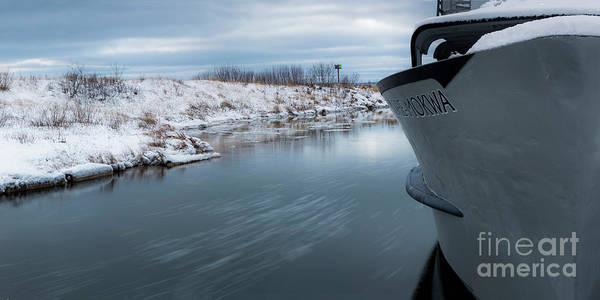 Wall Art - Photograph - Leland River In Winter by Twenty Two North Photography