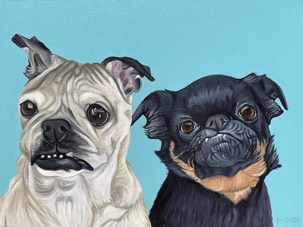 Painting - Lelo And Stitch by Nathan Rhoads