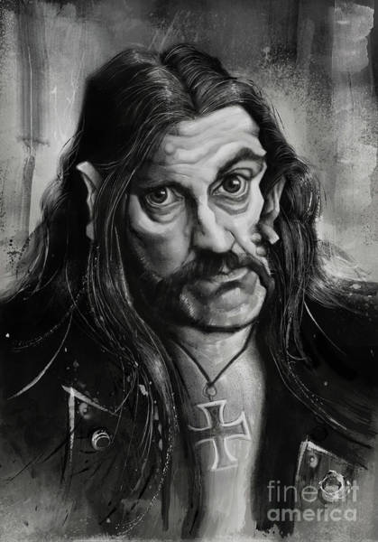 Rock Music Drawing - Lemmy by Andre Koekemoer