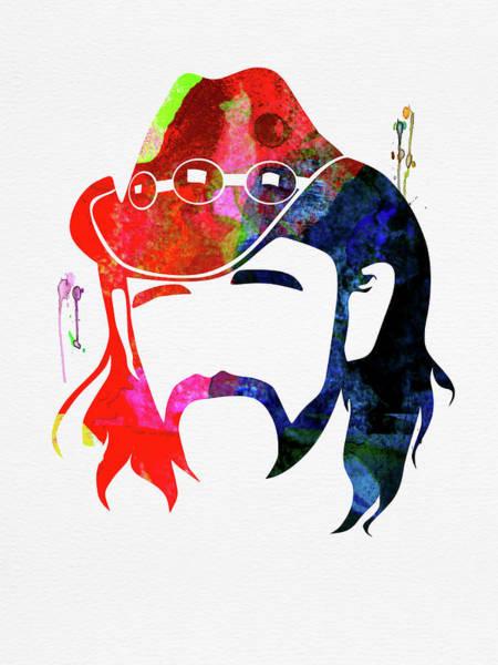 Wall Art - Mixed Media - Lemmy Watercolor by Naxart Studio
