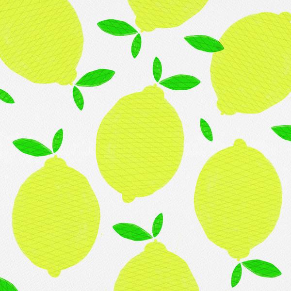 Painting - Sunny Lemon Pattern by Jen Montgomery