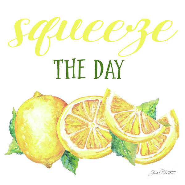 Jeans Mixed Media - Lemon Squeeze D by Jean Plout