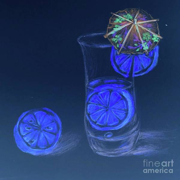 Neon Lights Mixed Media - Lemon Water Glowing In The Dark  by Lavender Liu
