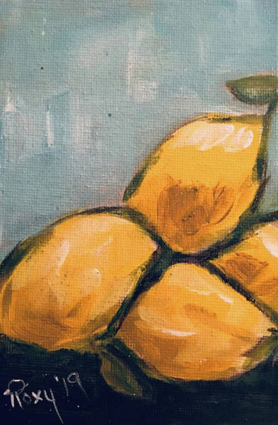 Still Life Painting - Lemons From Heaven by Roxy Rich