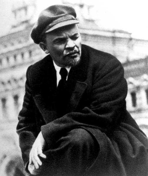 Lenin At Parade In Red Square Art Print