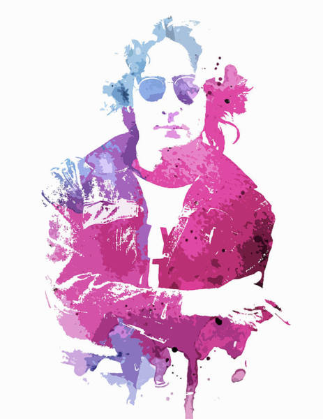 Painting - Lennon Watercolor Splatter by Dan Sproul
