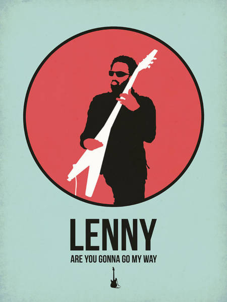 Hard Rock Wall Art - Digital Art - Lenny Kravitz by Naxart Studio