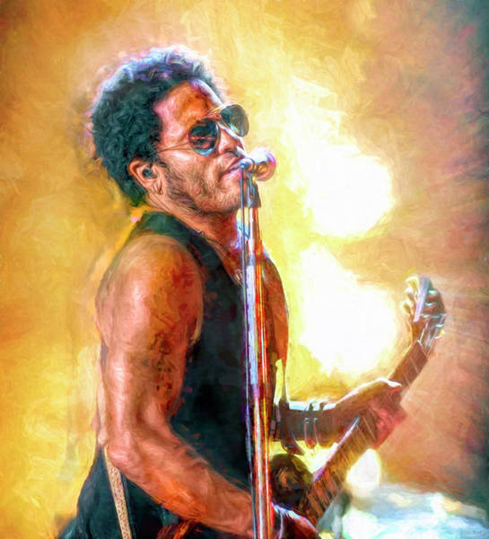 Wall Art - Mixed Media - Lenny by Mal Bray