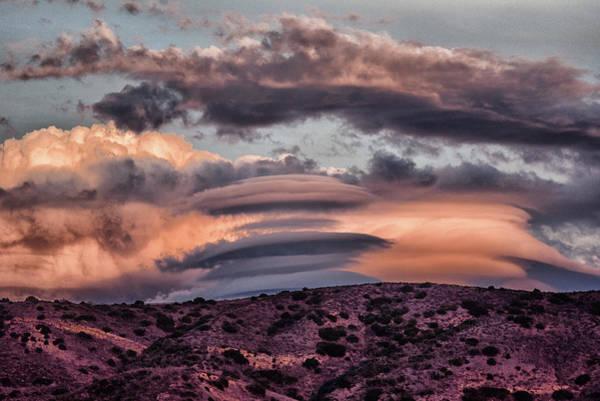 Orange County Digital Art - Lenticular Clouds At Sunset 1  by Linda Brody