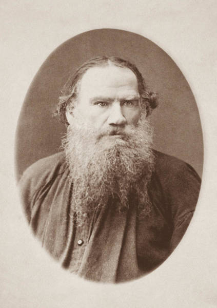 Wall Art - Photograph - Leo Tolstoy Portrait - Circa 1883 by War Is Hell Store