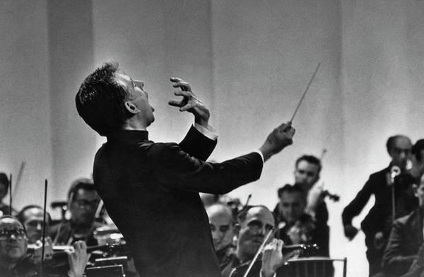 Leonard Photograph - Leonard Bernstein Conducting by Pictorial Parade