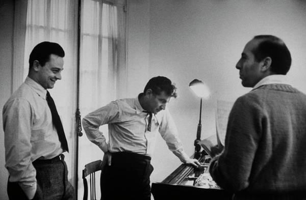 Human Interest Photograph - Leonard Bernsteinjerome Robbinsstephen by Alfred Eisenstaedt