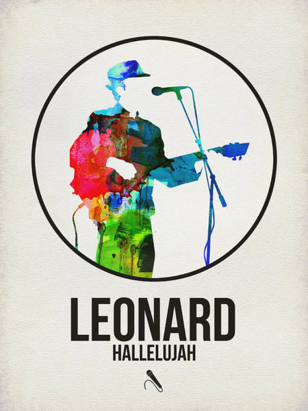 Wall Art - Digital Art - Leonard Cohen II by Naxart Studio
