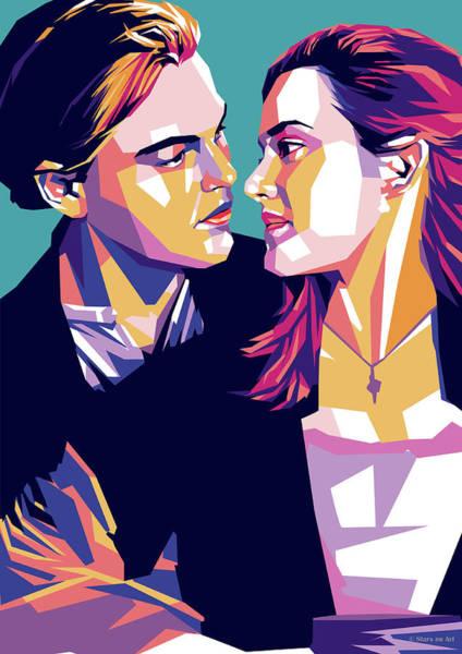 Digital Art - Leonardo Dicaprio And Kate Winslet by Stars on Art