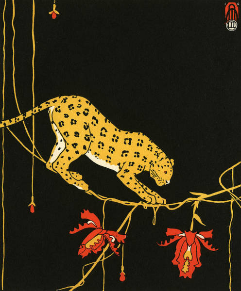 Archival Digital Art - Leopard By Maxwell Armfield by Graphicaartis