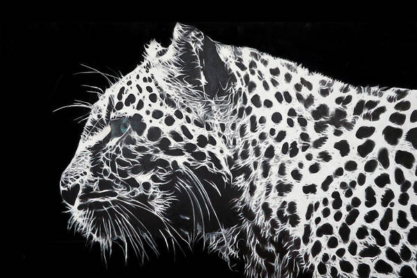 Big Cat Wall Art - Painting - Leopard by Dori Murakami