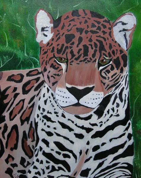 Painting - Leopard by Jim Lesher