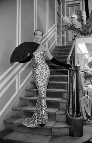 Evening Wear Photograph - Leopard Skin Dress by Kurt Hutton