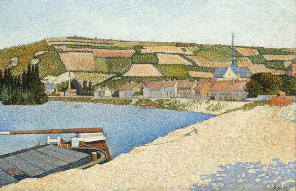 Wall Art - Painting - Les Andelys, Cote D'aval by Paul Signac