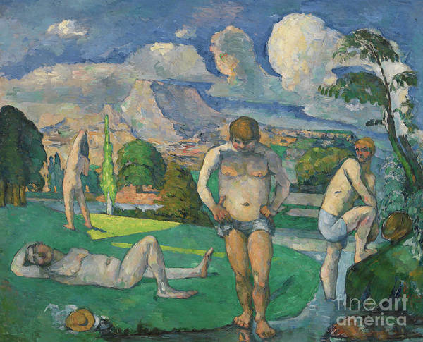 Wall Art - Painting - Les Baigneurs Au Repos by Paul Cezanne