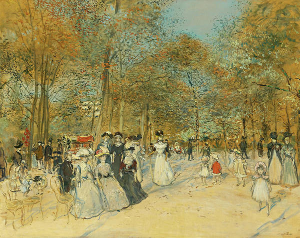 Wall Art - Painting - Les Champs-elysees by Jean-Francois Raffaelli