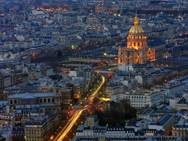 Invalides Photograph - Les Invalides And Paris Streets At Night by Cheoh Wee Keat