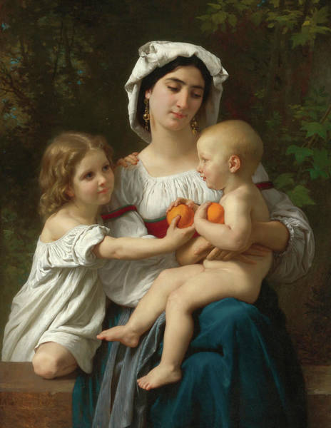 Wall Art - Painting - Les Oranges by William Adolphe Bouguereau