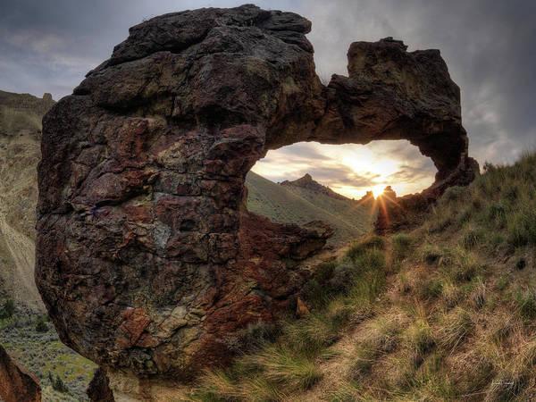 Basalt Photograph - Leslie Gulch Arch 2 by Leland D Howard