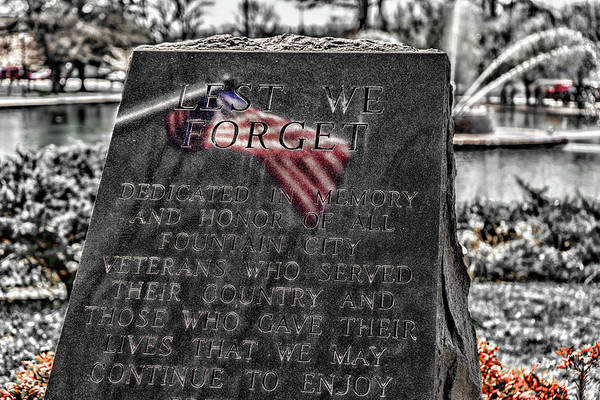 Photograph - Lest We Forget by Sharon Popek