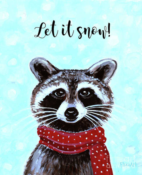 Painting - Let It Snow by Elizabeth Robinette Tyndall