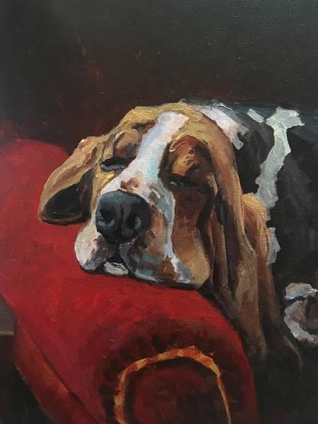 Wall Art - Painting - Let Sleeping Dogs Lie by Susan Elizabeth Jones