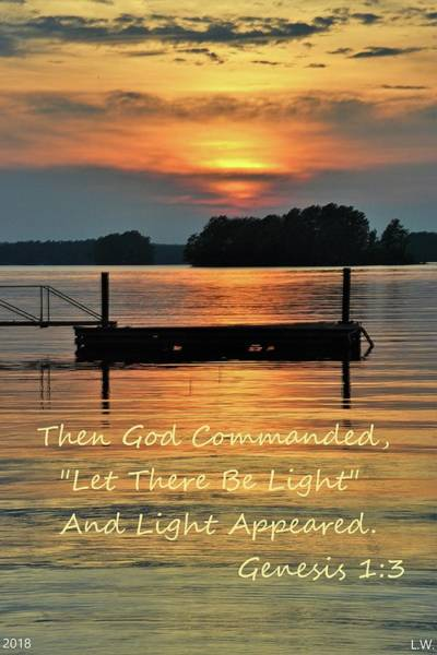Photograph - Let There Be Light by Lisa Wooten