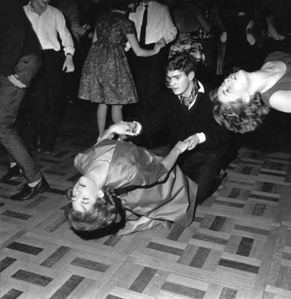 1961 Photograph - Lets Twist by Evening Standard