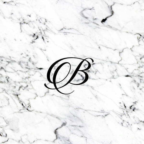Geologic Drawing - Letter B On Marble Texture Initial Personalized Monogram by Shawlin I
