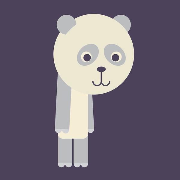 Digital Art - Letter P - Animal Alphabet - Panda Monogram by Jen Montgomery