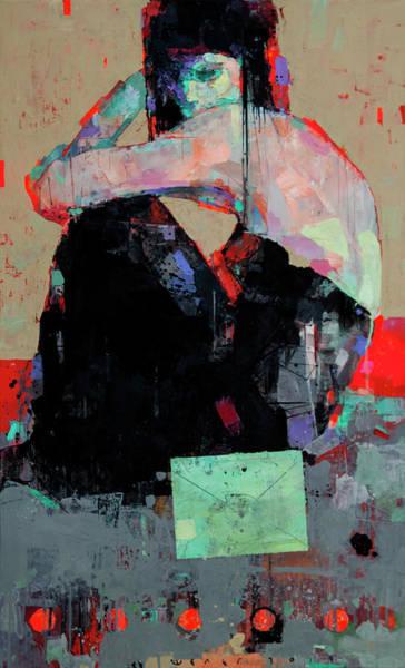 Wall Art - Painting - Letter by Viktor Sheleg