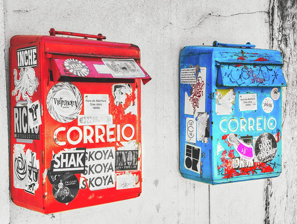 Wall Art - Photograph - Letterboxes' Redundancy by Micah Offman